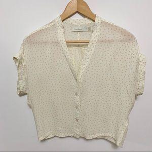 2/$20 Costa Blanca Button Down Short Sleeve Blouse